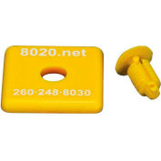 "80/20® 2015YEL 1010 End Cap, 1"" x 1"" x 1/8"", Yellow"