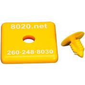 "80/20 2030YEL 1515 / 1515-Lite End Cap, 1.5"" x 1.5"" x 3/16"", Yellow"