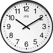 """Infinity Instruments 19"""" Round Profuse Wall Clock - Black"""
