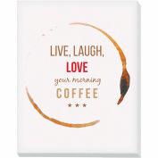 """Advantus® Canvas Motivational Print, 28""""W x 22""""H Breakroom Coffee, Live Laugh Love"""