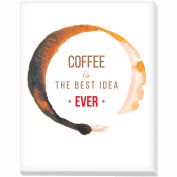 "Advantus® Canvas Motivational Print, 28""W x 22""H Breakroom Coffee, Best Idea"