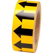 "Brady® 91420 Pipe Marker Arrow Tape, Vinyl, 2""W x 30 Yds., Yellow/Black"