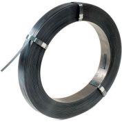 "Standard Grade Steel Strapping 5/8"" x .023"" x 2,255' Black, 16"" x 6"" Core"