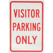 """Global Industrial™ Aluminum Sign - Visitor Parking Only - .063"""" Thick, 932136"""