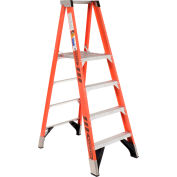 Werner 4' Fiberglass Platform Step Ladder 375 lb. Cap - P7404