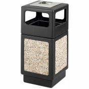 Safco® Canmeleon™ Aggregate Panel, Ash Urn/Side Open, 38 Gallon, Black - 9473NC