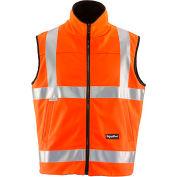 RefrigiWear HiVis Reversible Softshell Vest, Orange/Black, Class 2, 20° Comfort Rating, L