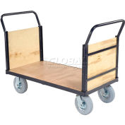 Global Industrial™ Euro Truck With Wood Ends & Deck 60 x 30 1200 Lb. Capacity
