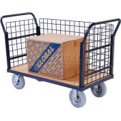 Global Industrial™ Euro Truck With 3 Wire Sides & Wood Deck 48 x 24 1200 Lb. Capacity
