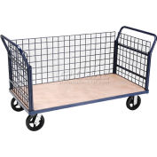 Global Industrial™ Euro Truck With 3 Wire Sides & Wood Deck 60 x 30 2400 Lb. Capacity