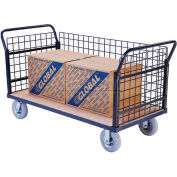 Global Industrial™ Euro Truck With 3 Wire Sides & Wood Deck 60 x 30 1200 Lb. Capacity