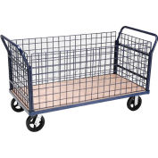 Global Industrial™ Euro Truck With 4 Wire Sides & Wood Deck 60 x 30 2400 Lb. Capacity