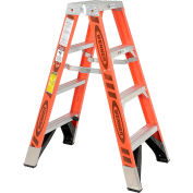 Werner 4' Dual Access Fiberglass Step Ladder 375 lb. Cap - T7404