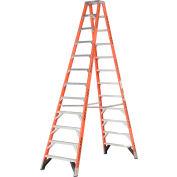 Werner 12' Dual Access Fiberglass Step Ladder 375 lb. Cap - T7412