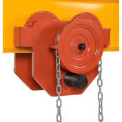 Geared Eye Adjustable Manual Trolley E-MT-8-C 8000 Lb. Capacity