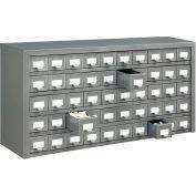 "Global Industrial™ Steel Storage Drawer Cabinet - 50 Drawers 36""W x 9""D x 17-3/4""H"