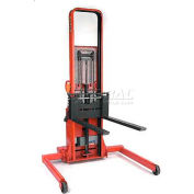 """Wesco® Battery Powered Lift Truck 261053 2000 Lb. 64""""H Adj. Strd. 42"""" Forks"""