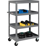 Global Industrial™ Multi-Level Steel Shelf Truck with 4 Shelves 36 x 24 800 Lb. Capacity