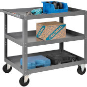 3 Shelf Steel Stock Cart 36 x 24 800 Lb. Capacity
