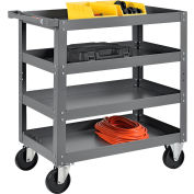 Global Industrial™ 4 Shelf Steel Stock Cart 30 x 18 800 Lb. Capacity