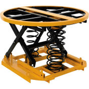 Spring-Actuated Automatic Elevating Pallet Carousel Table SST-45