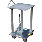 Stainless Steel Hydraulic Post Lift Table HT-05-1818A-PSS 18x18 500 Lb.