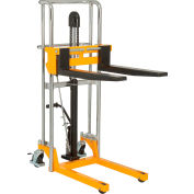 "Global Industrial™ Best Value Manual Lift Stacker 880 Lb. Capacity 47"" Lift"