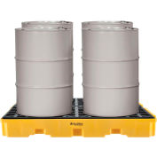 Global Industrial™ 4-Drum Spill Containment Modular Platform, Assembled