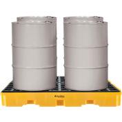Global Industrial™ 4-Drum Spill Containment Modular Platform - 2 Piece - Assembled