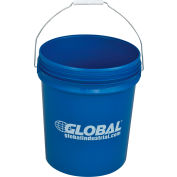Global Industrial™ 5 Gallon Open Head Plastic Pail with Steel Handle - Blue