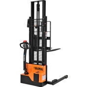 "Global Industrial™ Fully Powered Straddle Stacker Lift Truck 2200 Lb. Cap. 116"" Lift"