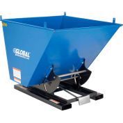 Global Industrial™ Self-Dumping Forklift Hopper W/Bump Release, 2 Cu. Yd, 6000 Lbs, Blue/Black