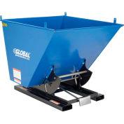 Global Industrial™ Steel Self-Dumping Forklift Hopper W/Bump Release, 1 Cu. Yd, 6000 Lbs.