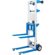 Global Industrial™ Lightweight Hand Operated Lift Truck, 400 Lb. Capacity Fixed Legs