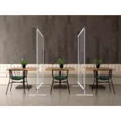 Global Industrial™ Floor Supported Portable Clear Personal Safety Partition, 4'W x 6'H