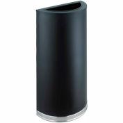 Safco® Half Round Receptacle Black - 12-1/2 Gallon - 9940BL
