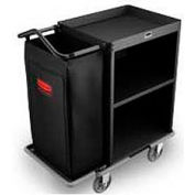 Rubbermaid® Deluxe High Security Compact Housekeeping Cart 9T61
