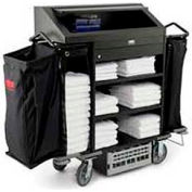Rubbermaid® Deluxe High Security Housekeeping Cart 9T64