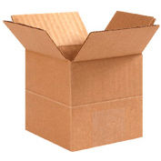 "Multi-Depth Cardboard Corrugated Box 20"" x 20"" x 20""-18""-16""-14"" 200lb Test - 10 Pack"