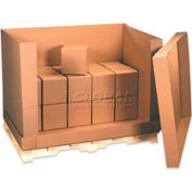 """Doublewall Corrugated Box D Container 58"""" x 41"""" x 45"""" 350lb. - 4 Pack"""