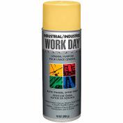 Krylon Industrial Work Day Enamel Paint Yellow - A04406007 - Pkg Qty 12