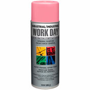 Krylon Industrial Work Day Enamel Paint Gloss Pink - A04407 - Pkg Qty 12