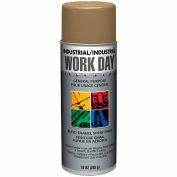 Krylon Industrial Work Day Enamel Paint Gold - A04410 - Pkg Qty 12