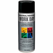Krylon Industrial Work Day Enamel Paint Flat Black - A04412007 - Pkg Qty 12