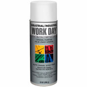 Krylon Industrial Work Day Enamel Paint Flat White - A04422 - Pkg Qty 12