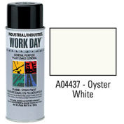 Krylon Industrial Work Day Enamel Paint Oyster White - A04437 - Pkg Qty 12