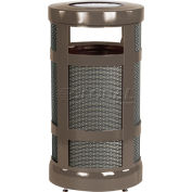 "Rubbermaid® Combo Sand Top Urn & Trash Receptacle, Bronze, 17 Gallon, 18"" Dia x 34""H"