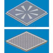 SNA Raised Floor Air Distribution Panel Kit, 2'L X 2'W, 1250 CLC, SCS2 Stringer, 27% Open, EX-HVY