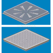 SNA Air Distribution Perforated Panel, 2'L X 2'W, 1250 CLC, 17% Open, Extra Heavy