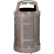 "Canopy Top Combo Sand Top Urn And Trash Can, Bronze, 38 gal. cap, 24"" Dia x 43""H"